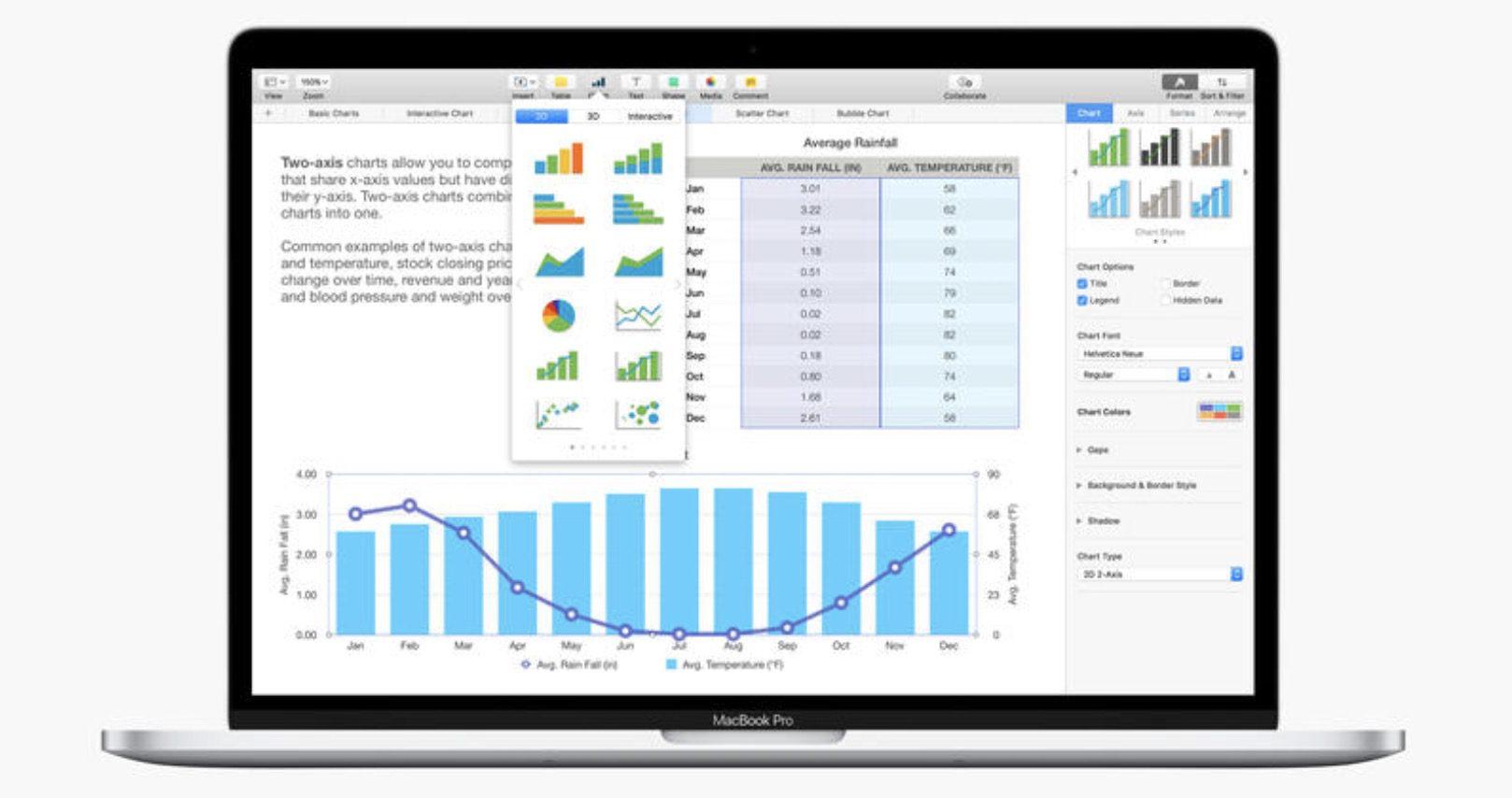 Numbers voor Mac met 500 vormen