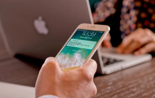 Toegangsscherm in iOS 11.