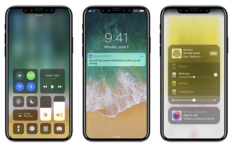 iPhone 8 concept met iOS 11