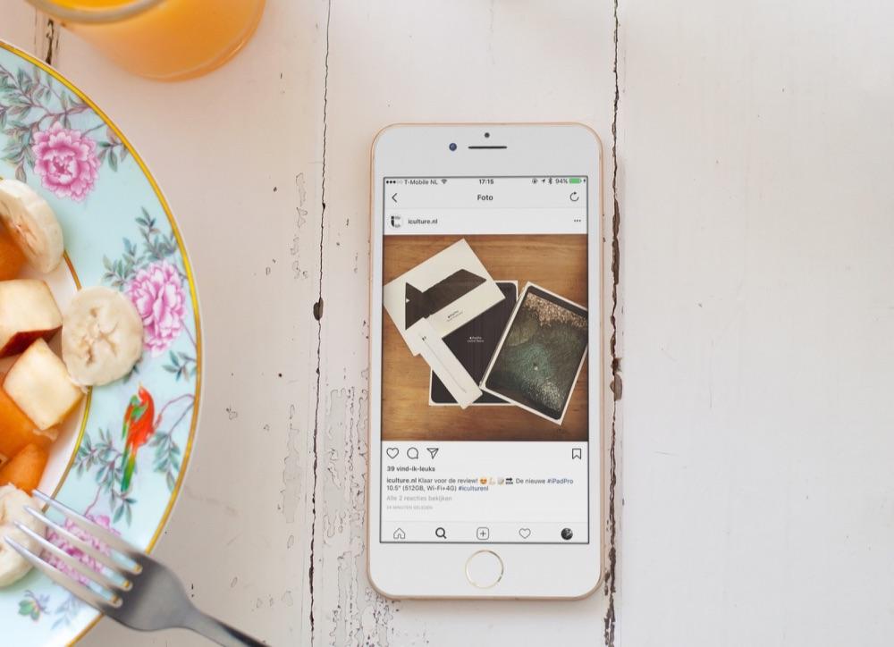 Instagram met iCulture-pagina op de iPhone.