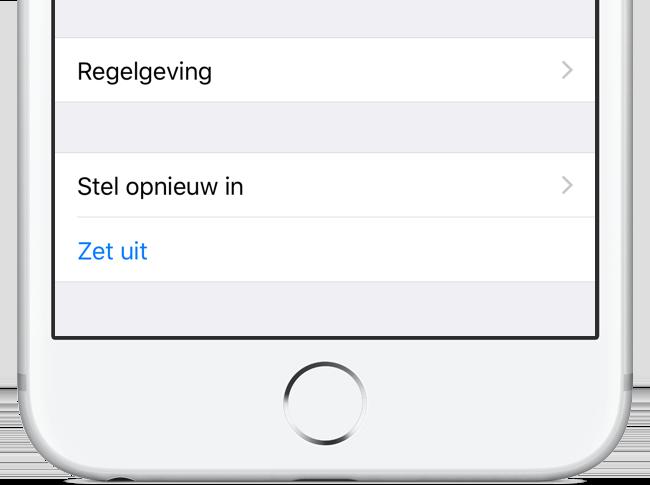 iPhone uitschakelen via Instellingen
