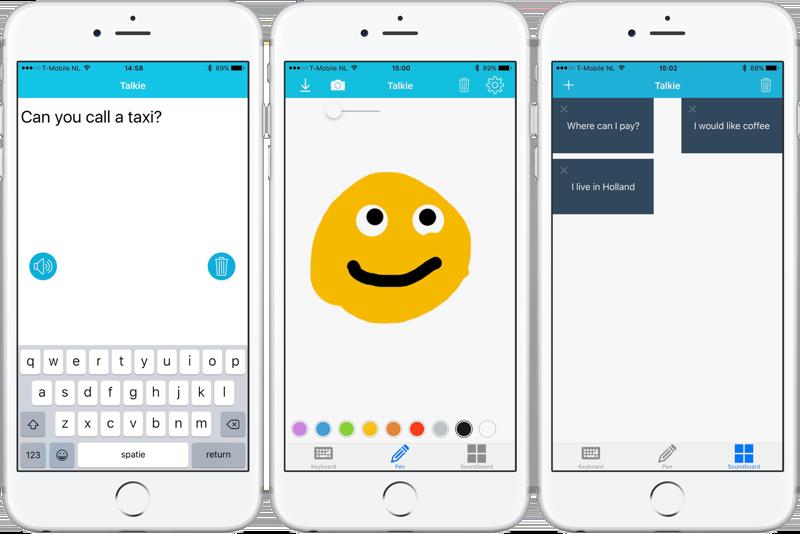 Talkie app voor spraakproblemen