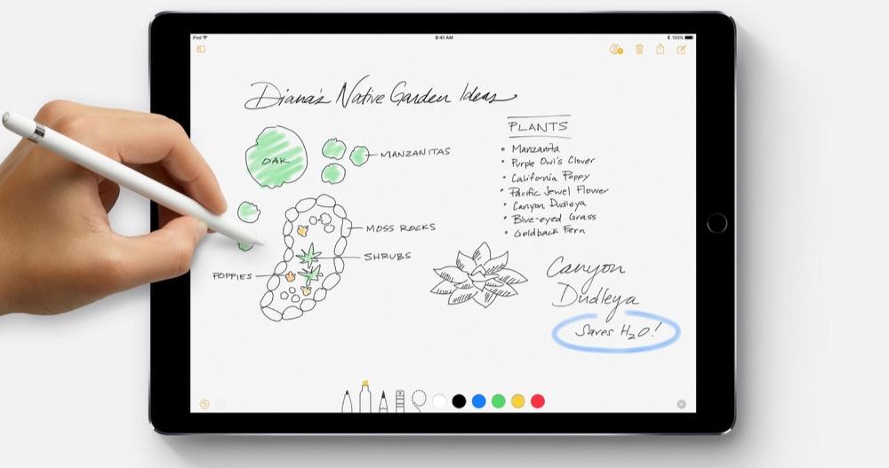 Notities maken met de Apple Pencil op iPad Pro.