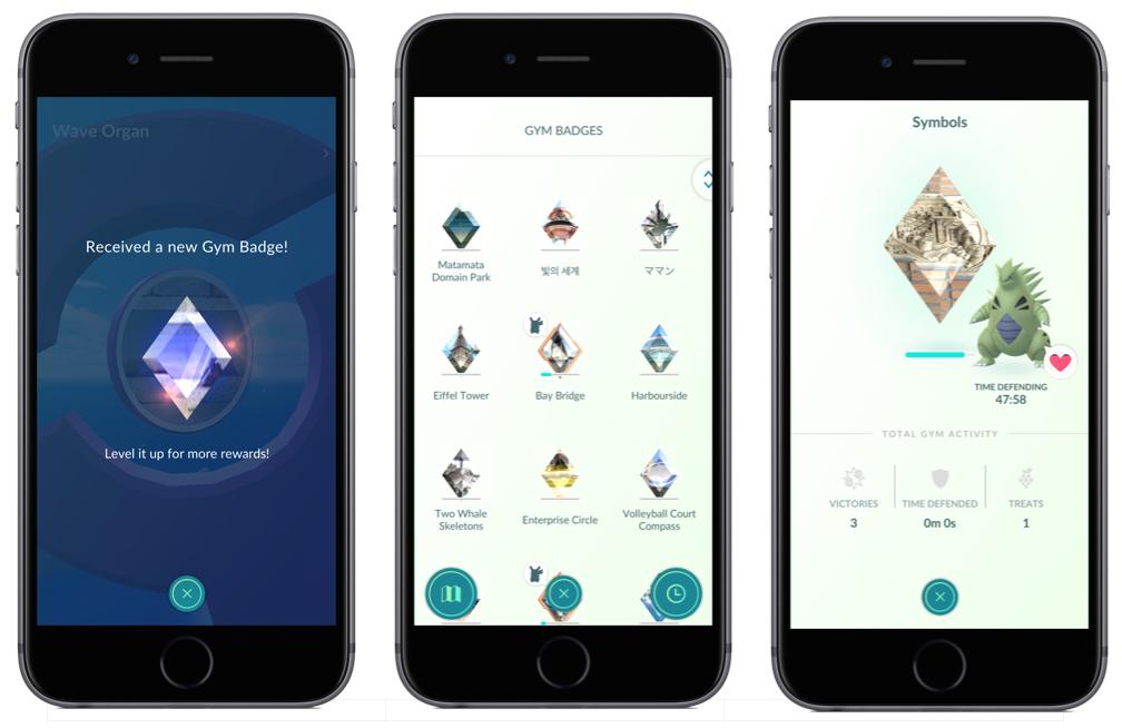 Pokémon Go Gym Badges.