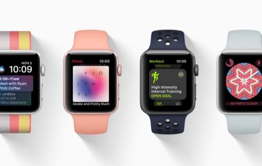 watchOS 4 op de Apple Watch.