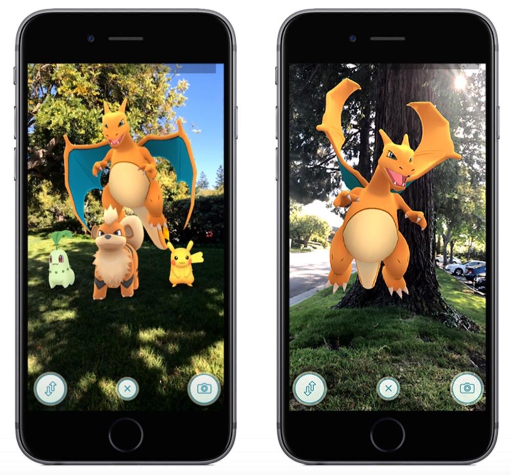 Pokémon Go met augmented reality dankzij ARKit.