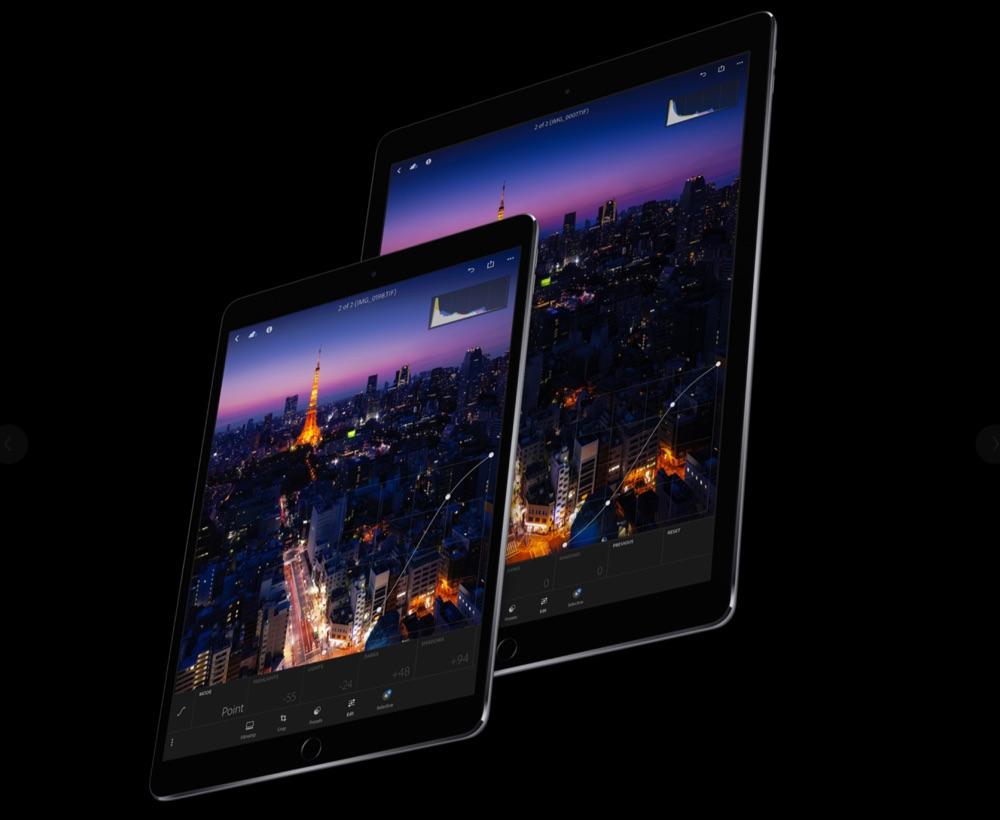 iPad Pro schermen in twee formaten.