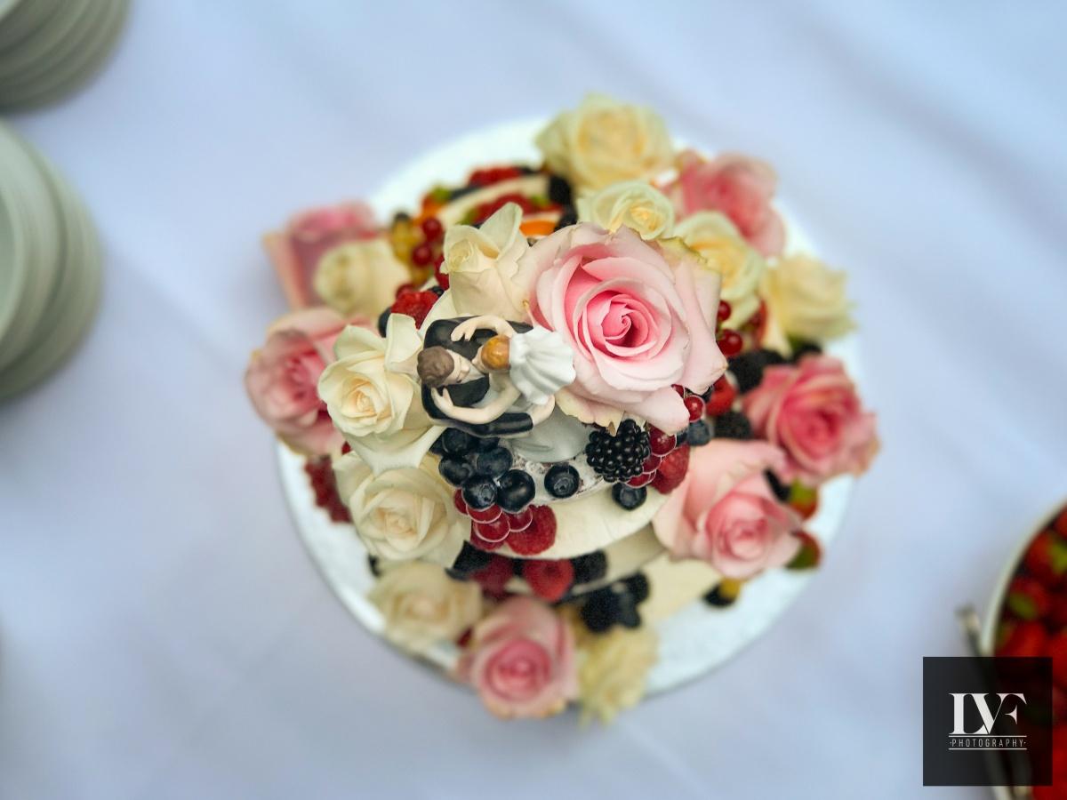 iPhone bruiloft foto van de bruidstaart