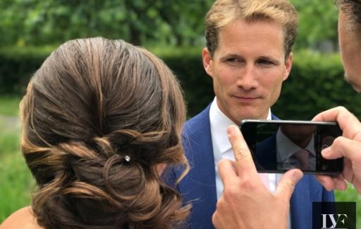 iPhone-bruiloft: fotograferen van het bruidspaar