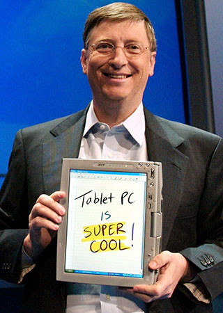 Microsoft Tablet PC, Bill Gates