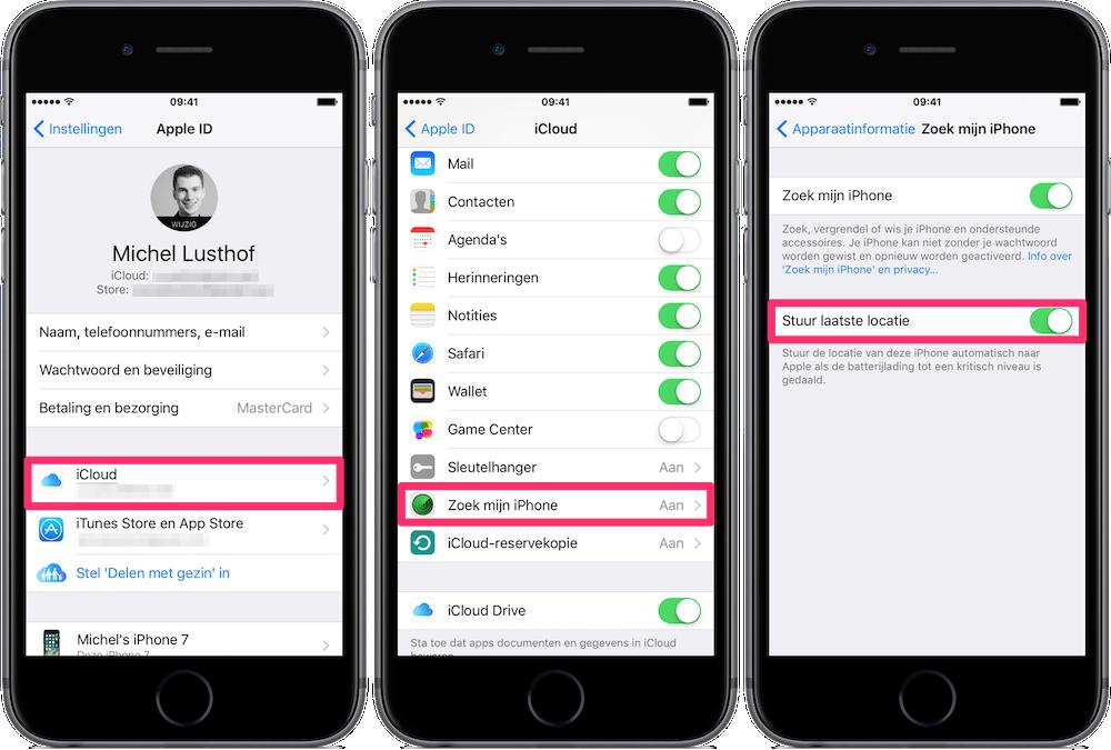 Stuur je laatste locatie met Zoek mijn iPhone voordat je batterij leeg is