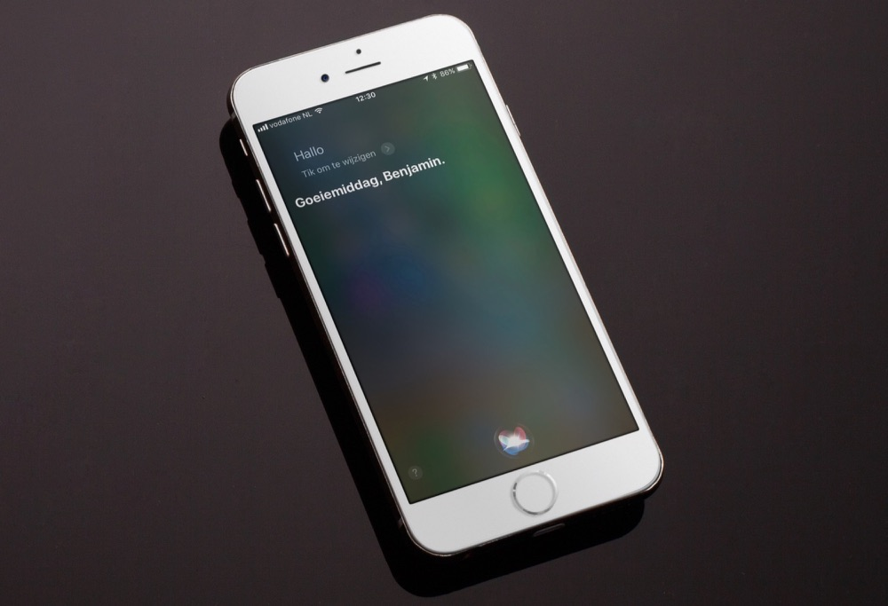 Siri in iOS 11 op de iPhone.
