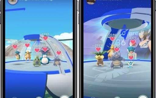 Pokémon Go: maximaal 6 Pokémon per Gym