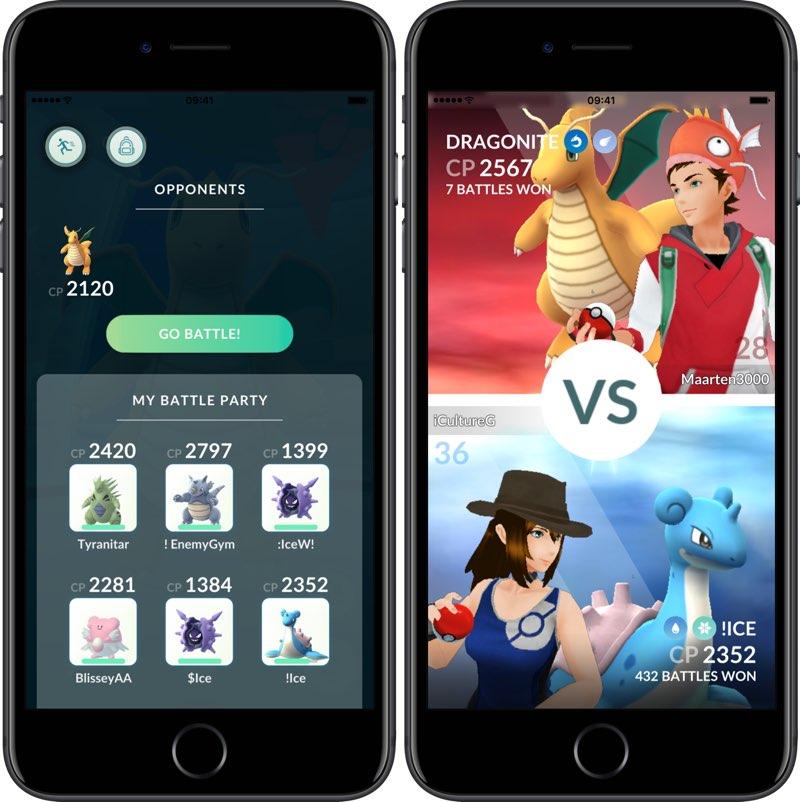 Gym Gevechten Pokémon Go