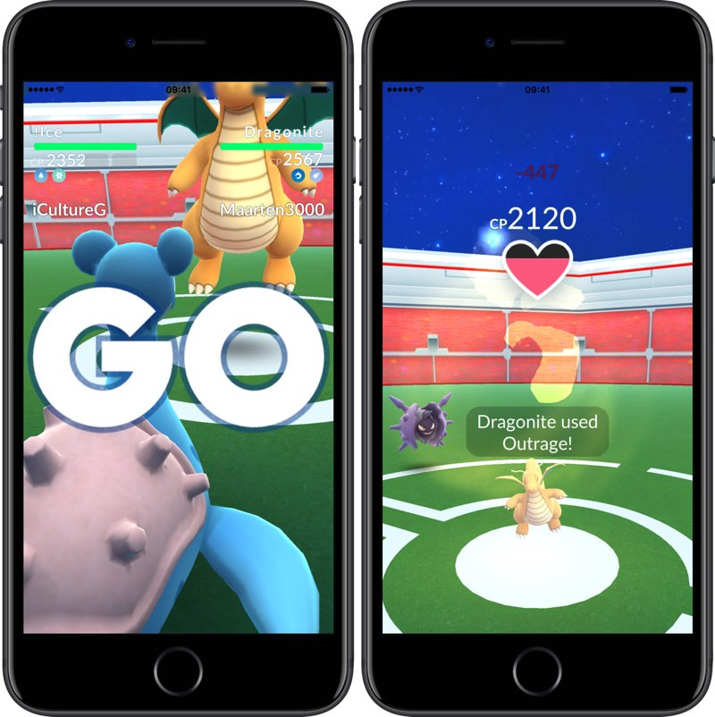 Gym-gevechten in Pokémon Go