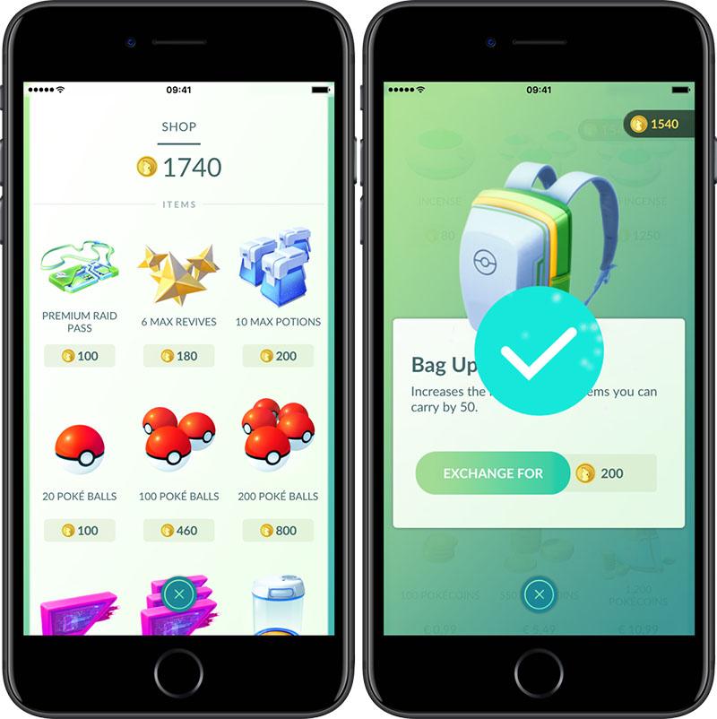 Pokémon Go munten verdienen en uitgeven