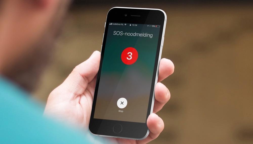 SOS-noodmelding op de iPhone.