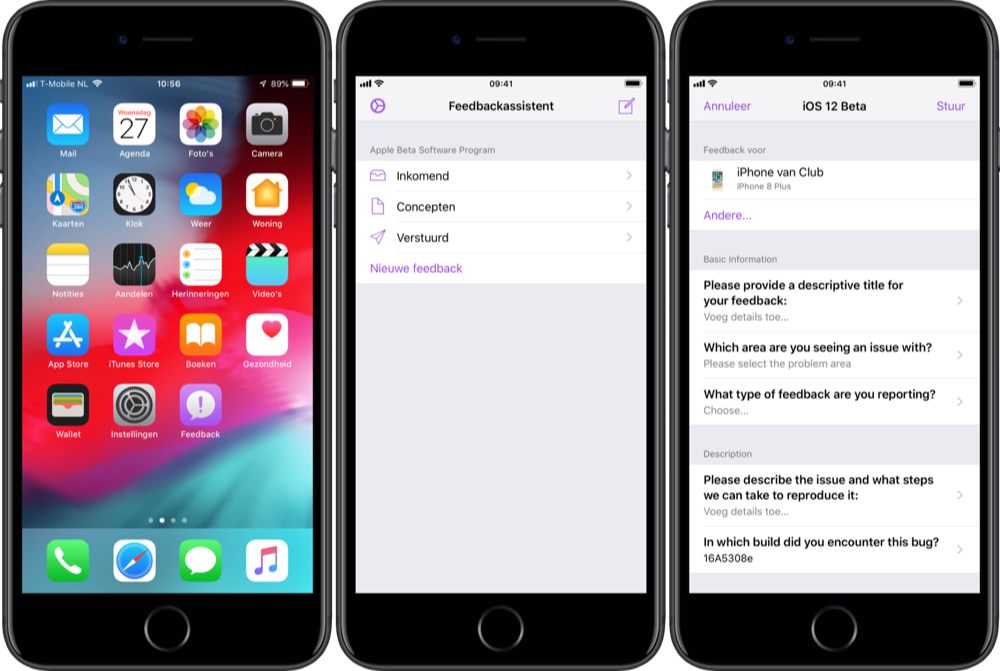 iOS 12 beta feedback geven.
