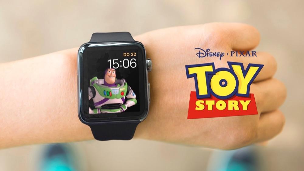 Toy Story met Buzz Lightyear op de Apple Watch.