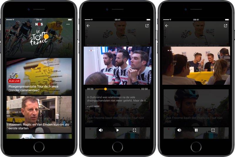 NOS Tour de France Video app