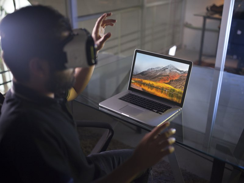 macOS High Sierra virtual reality-bril