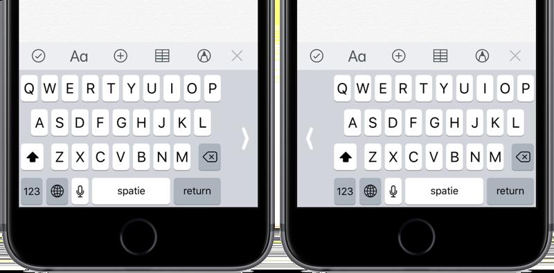 Eenhandig toetsenbord links en rechts