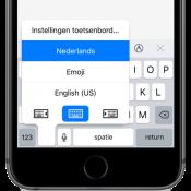 Zo werkt het eenhandige toetsenbord in iOS 11