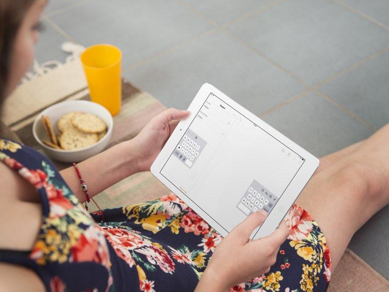 Gesplitst toetsenbord iPad