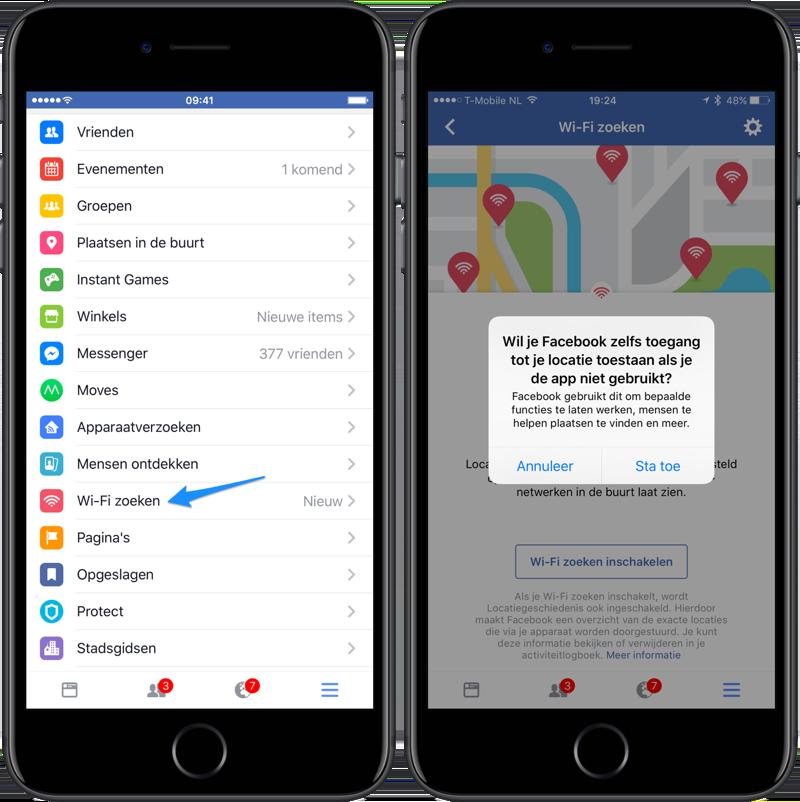 Facebook stelt Wi-Fi zoekfunctie wereldwijd open, ook ...