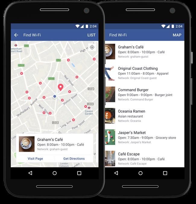 Wi-Fi zoeken Facebook