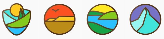 Nationale Parken: badges