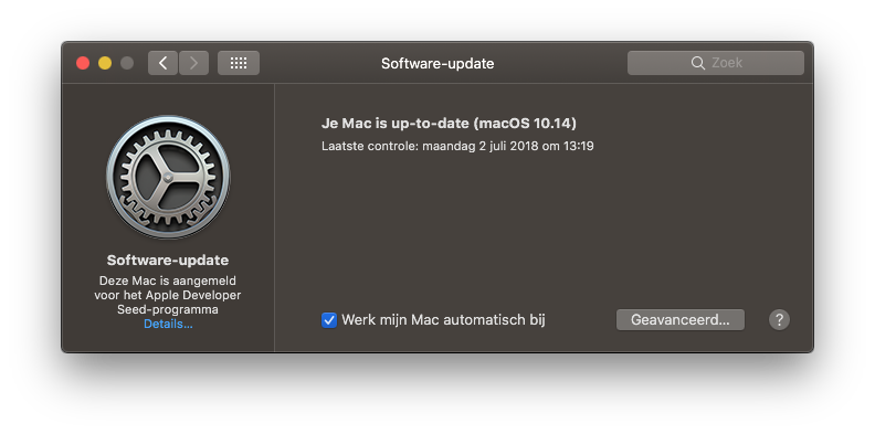 macOS update installeren