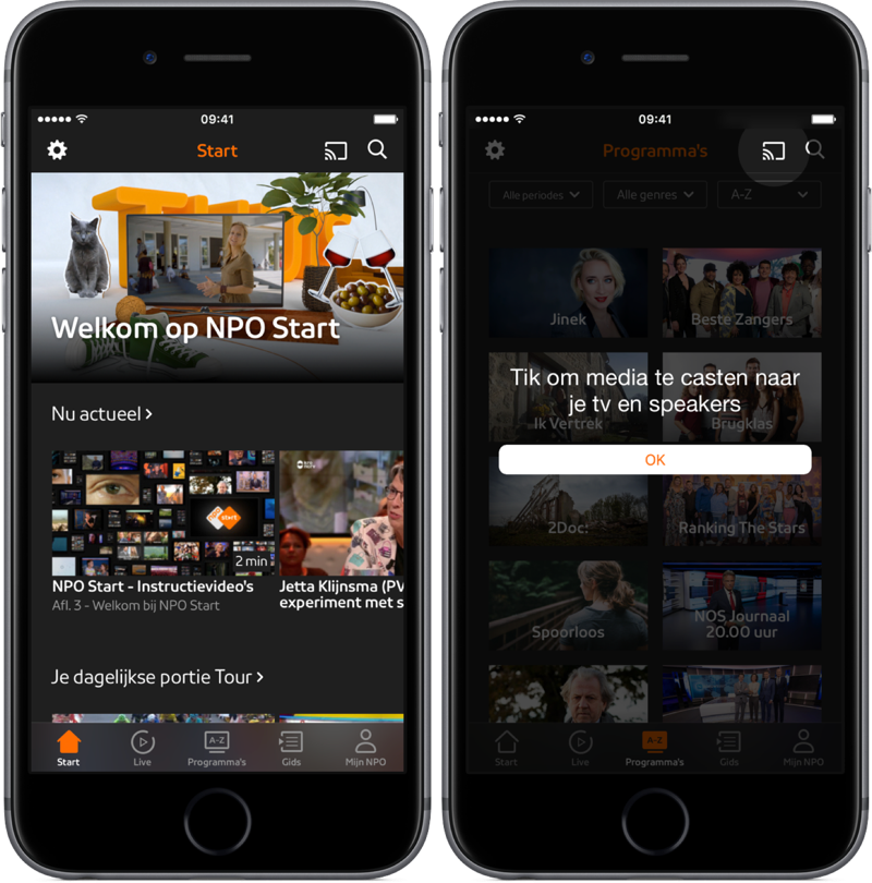 NPO Start app vernieuwd.