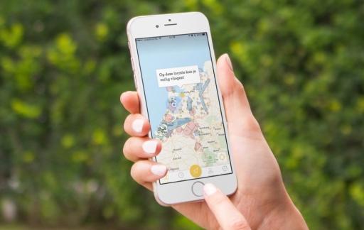 Vlieg Veilig met kaart op de iPhone.