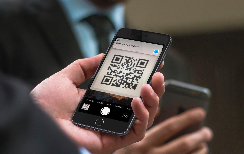 QR-code scannen op de iPhone.