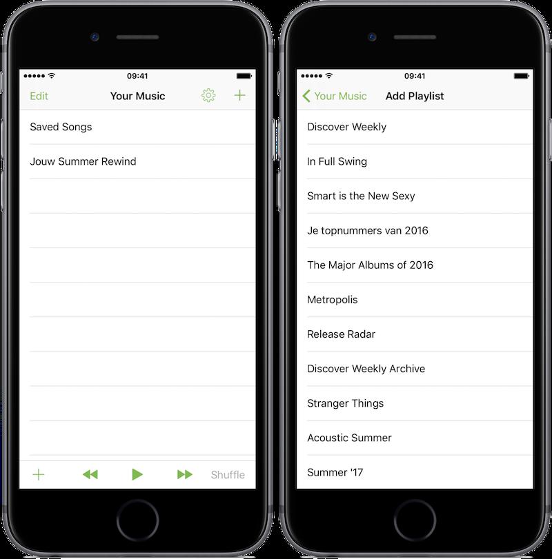 Met de gratis app Dash heb je nog sneller toegang tot je favoriete afspeellijsten in Spotify