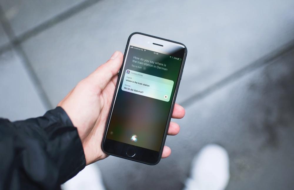 Siri vertalen in het Duits op de iPhone.