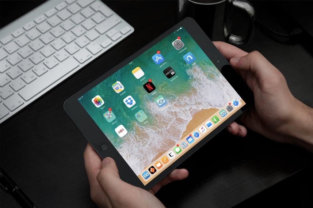 Dock op de iPad met apps in iOS 11.