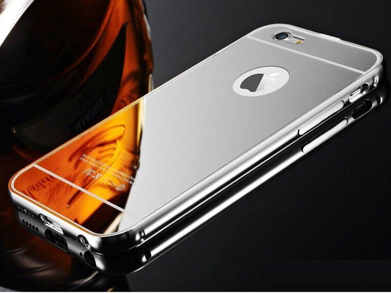 IPhone 8 met spiegelende case