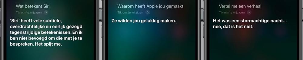 Grappige Siri-vragen: waarom besta je?
