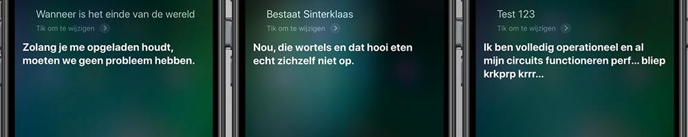 Grappige Siri-antwoorden
