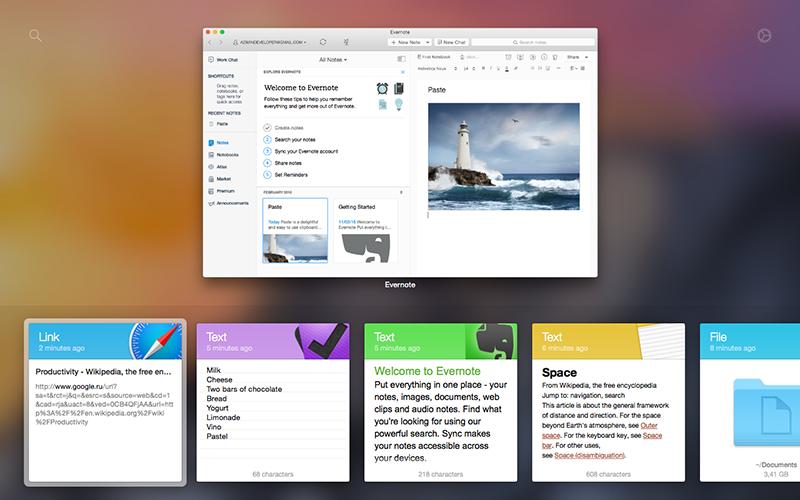 Paste app voor Mac