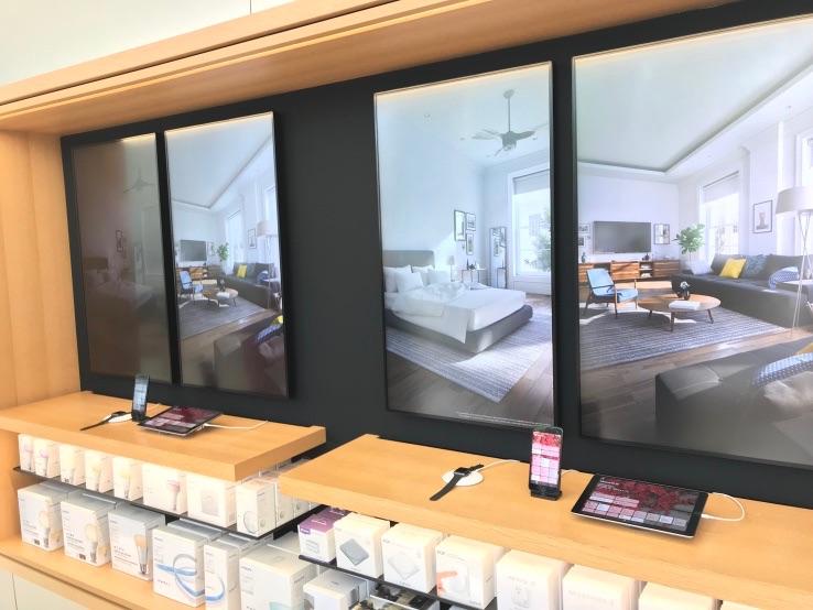 HomeKit-demo in de Apple Store is interactief.