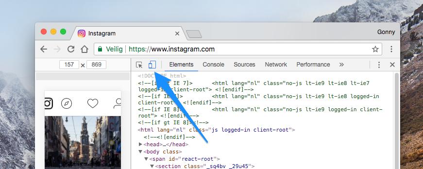 Instagram Chrome-desktop