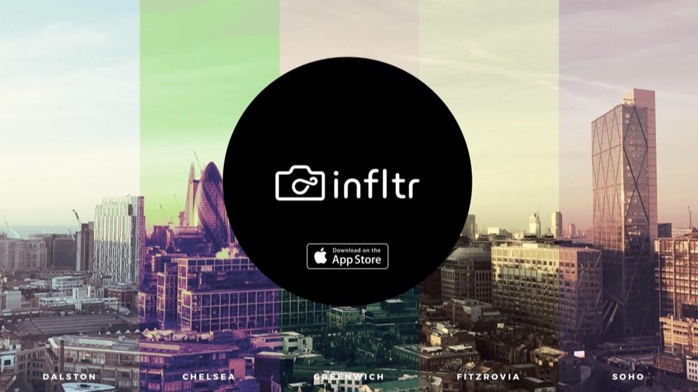 infltr foto-app met filters.