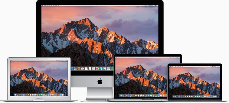 Mac line-up met Sierra.