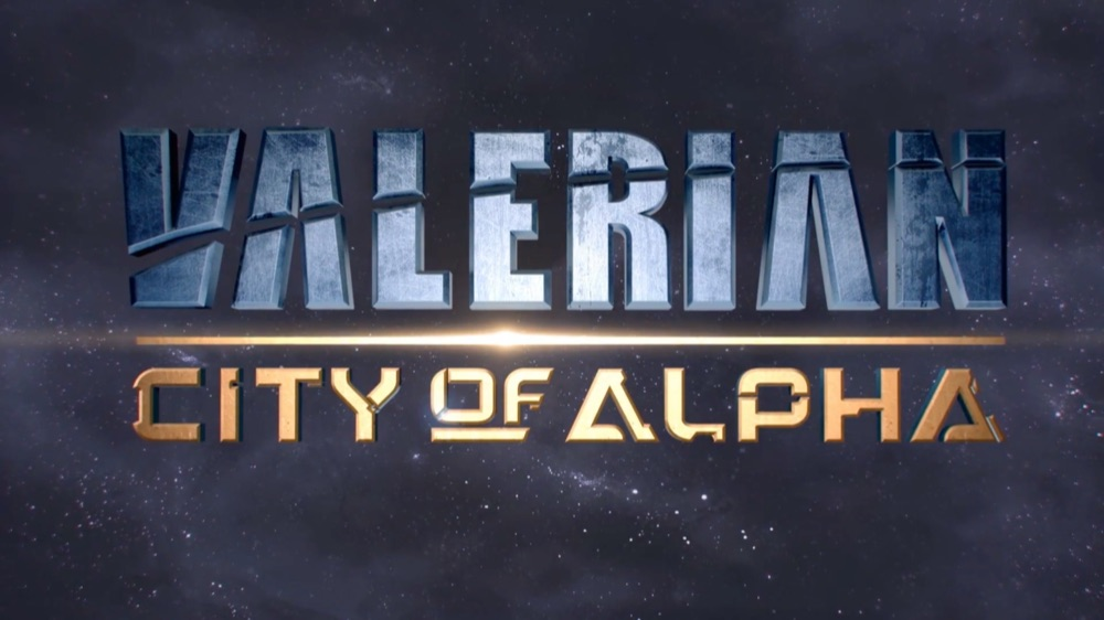 Valerian: City of Alpha logo.