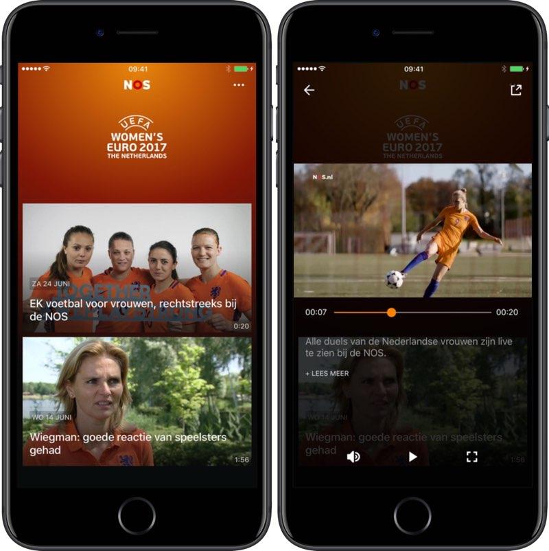 NOS EK Voetbal Vrouwen-app