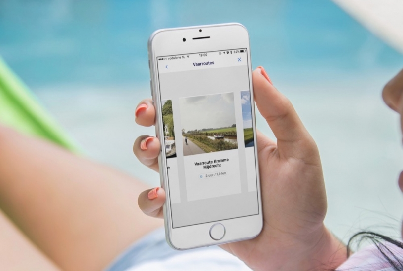 Vaarroutes in VaarWater-app.