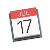 Agenda en iCal op 17 juli.